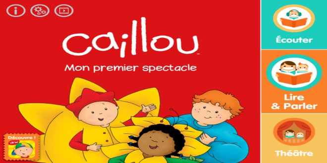 caillou spectacle livre interactif