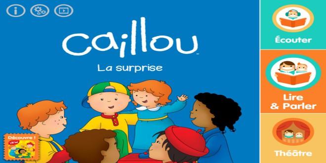 Je lis avec Caillou surprise