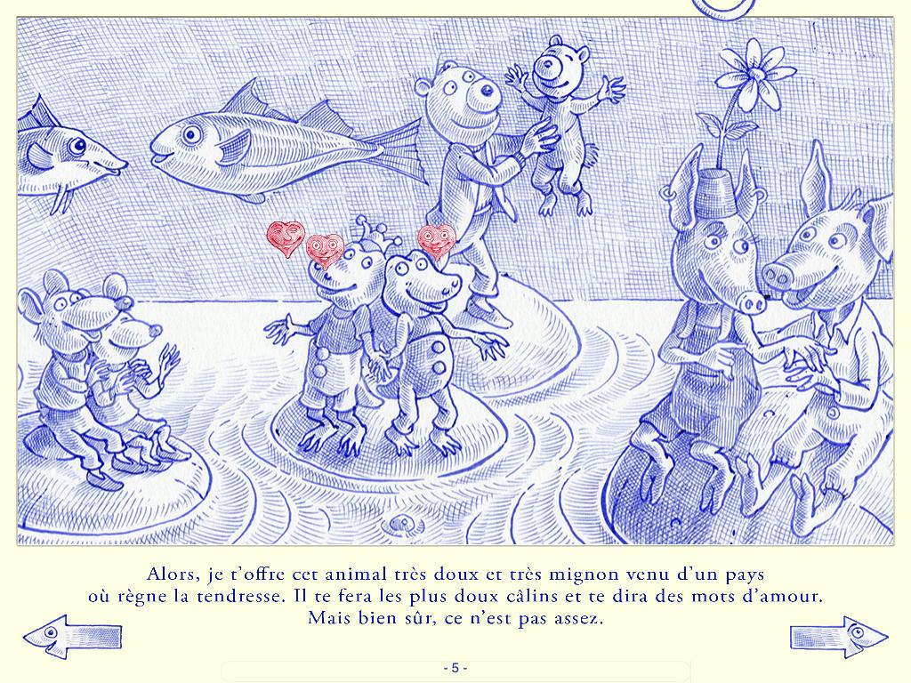 Appli Livre Bleu De Toi Dominique Maes 4 App Enfant