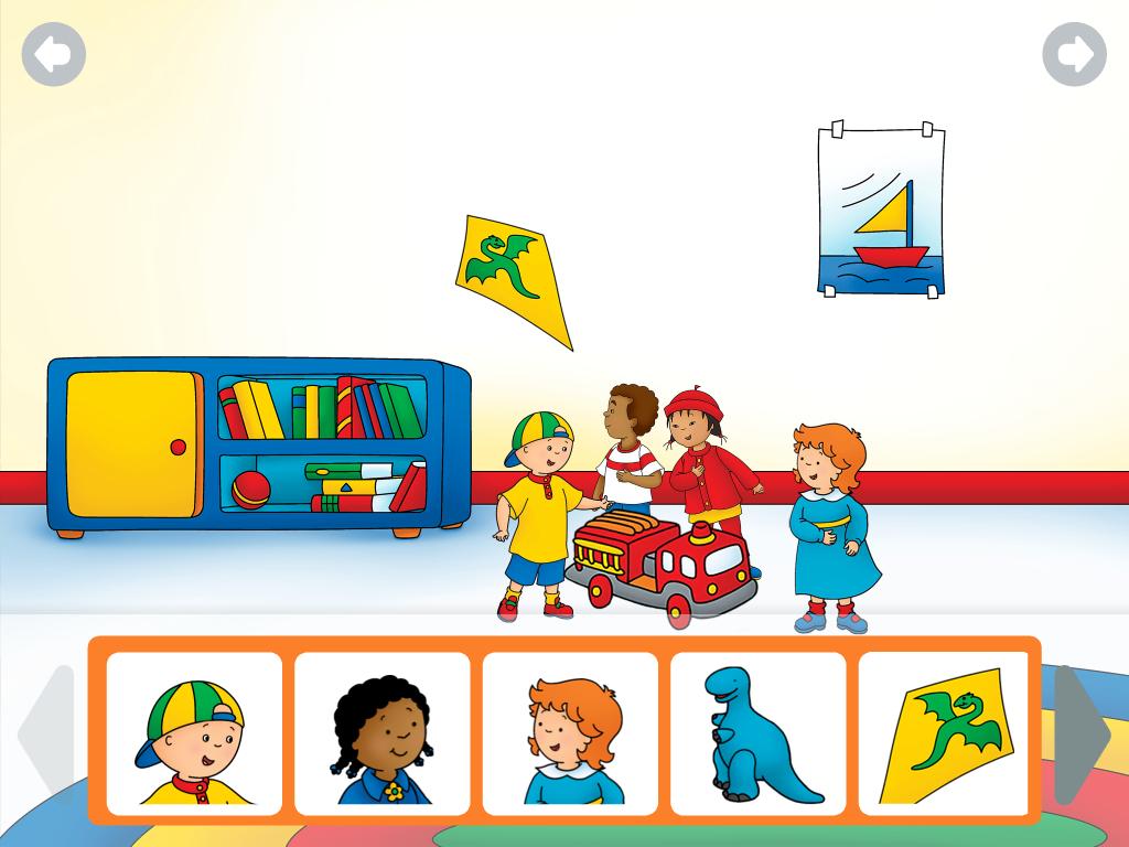 Caillou interactions livres enfants