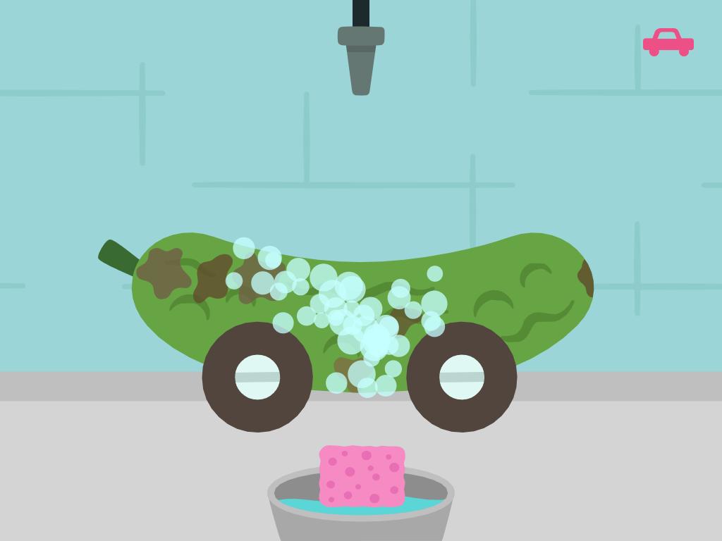 Sago mini lavage voiture