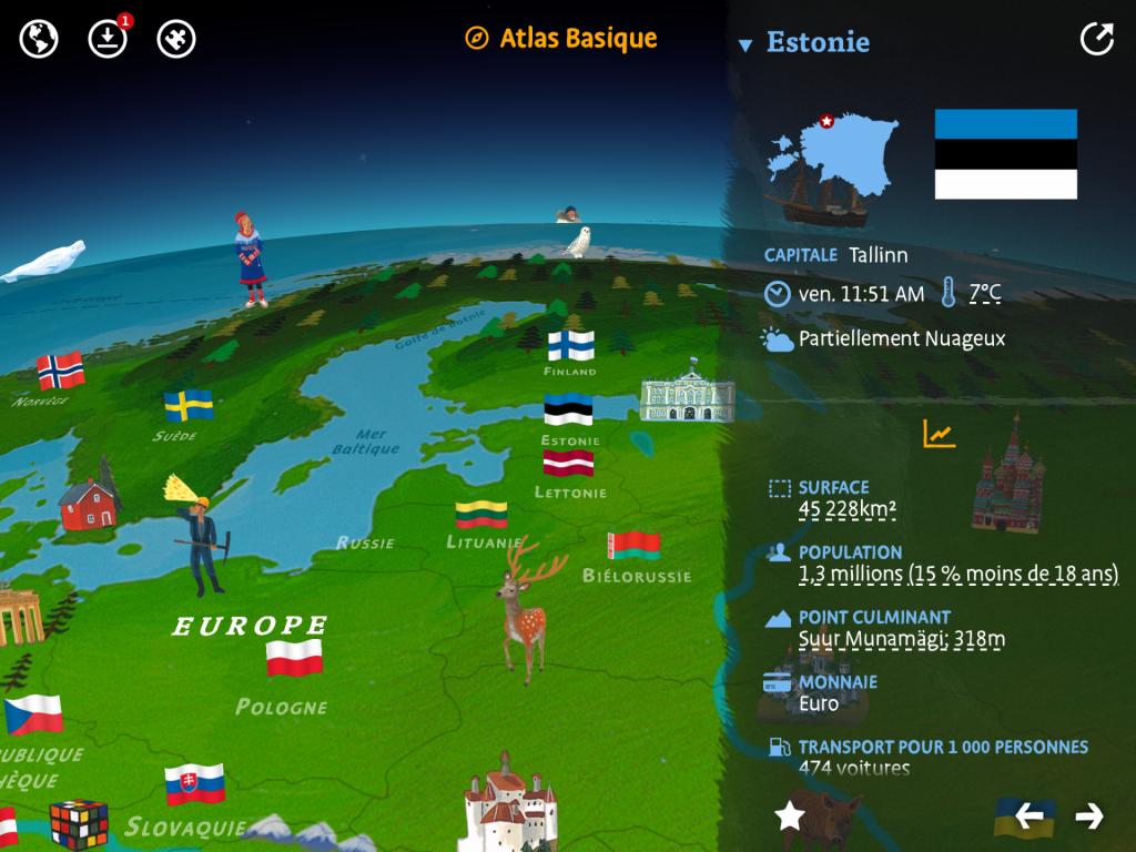 atlas monde image
