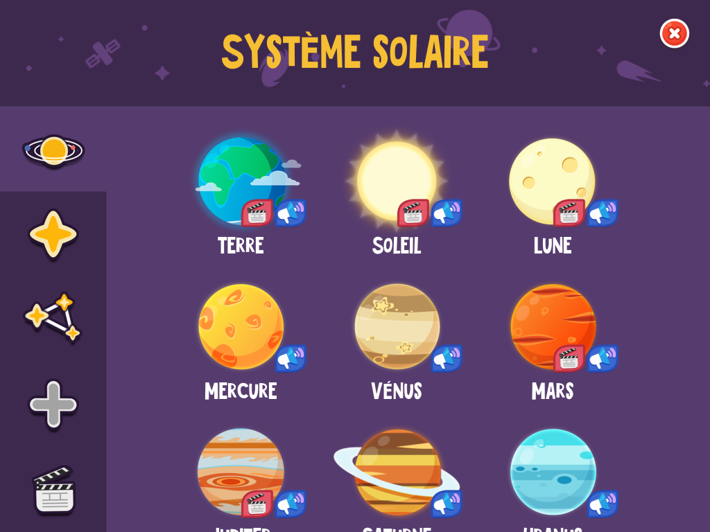Star Walk Kids astronomie systeme solaire