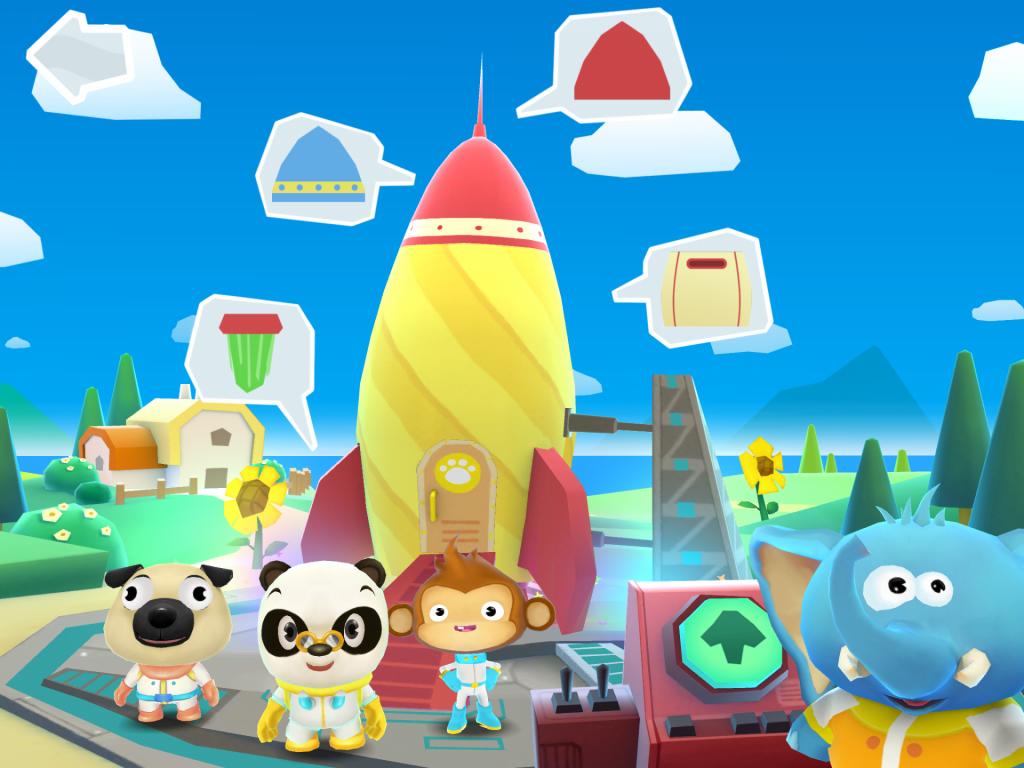 Dr Panda fusée application enfant