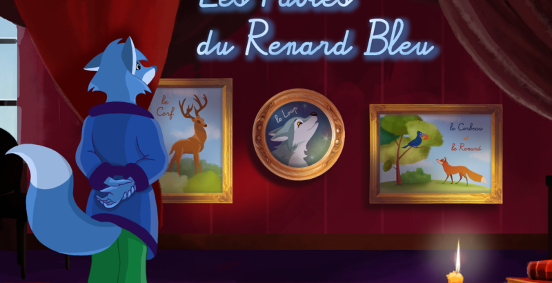 fables renard bleu home