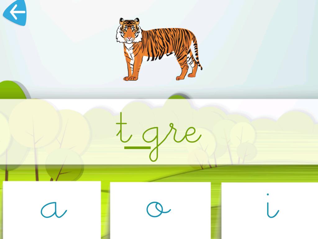je lis et j'écris tigre