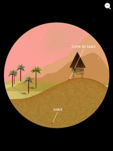 Tiny bop terre dune sable
