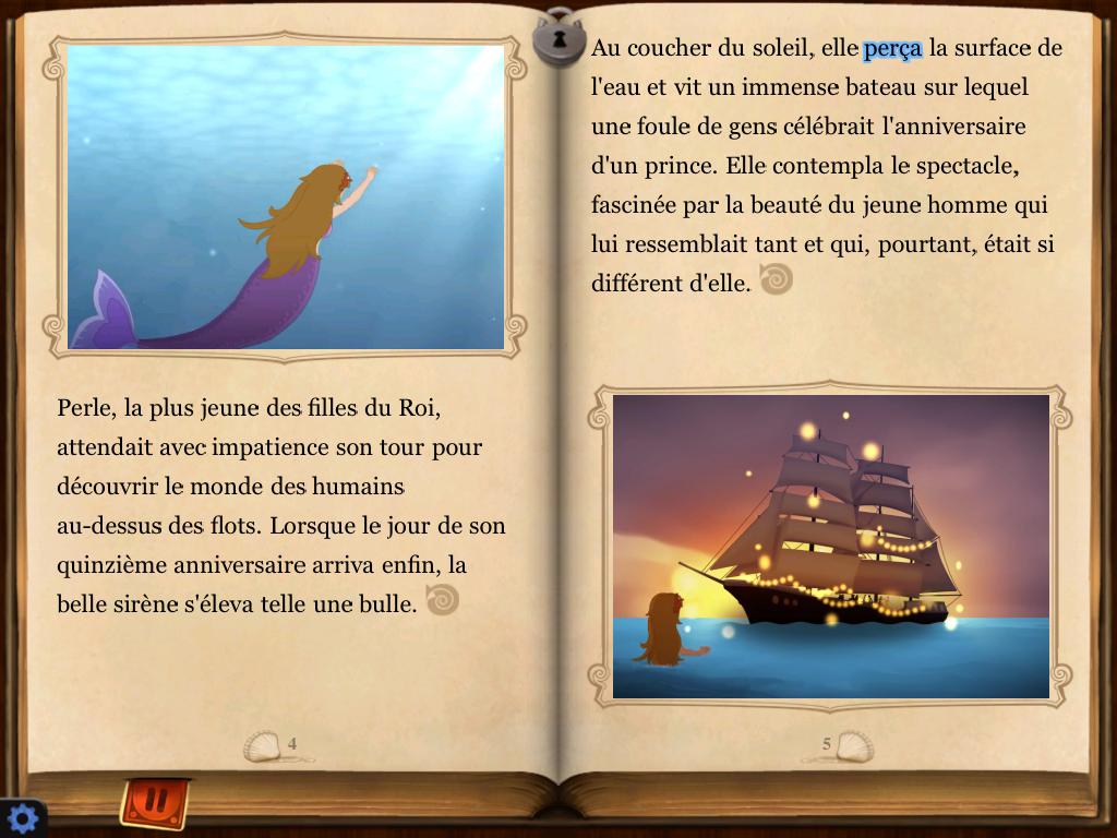 La petite sirène Livre interactif