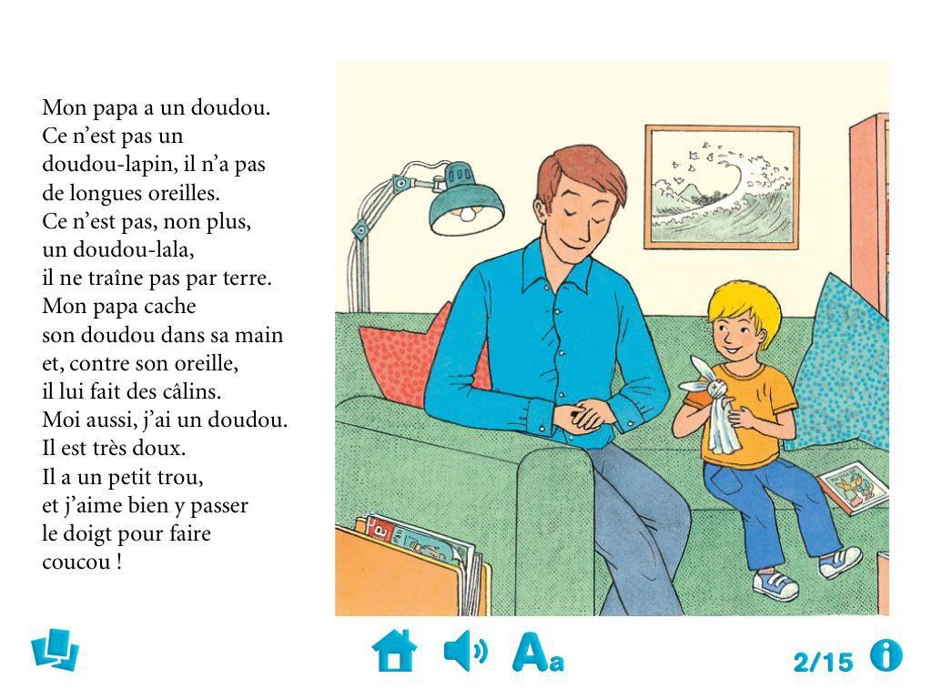 doudou papa livre interactif enfant