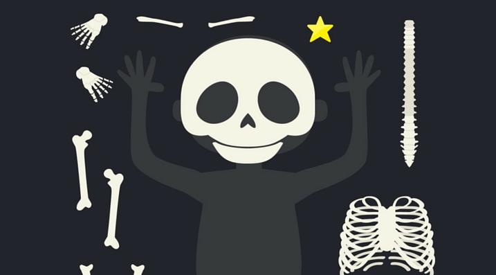 c'est mon corps ipad squelette