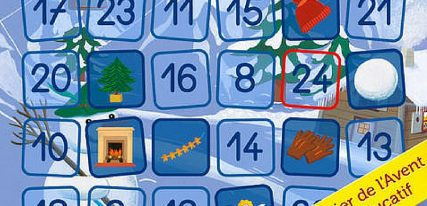 Le calendrier de l'avent petit ours brun une