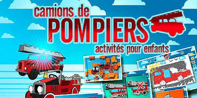 Coloriage Magique Camion De Pompier.Camions De Pompiers Application Puzzles Coloriages Et