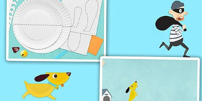 Labo paper Plate app coloriage