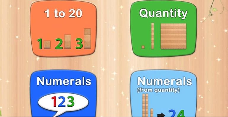 Les nombres Montessori Une