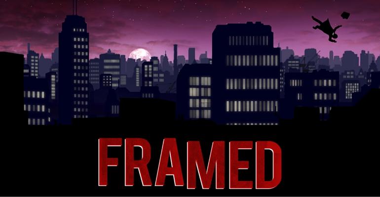 Framed Une
