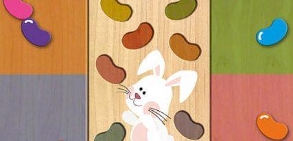 puzzle en bois pâques