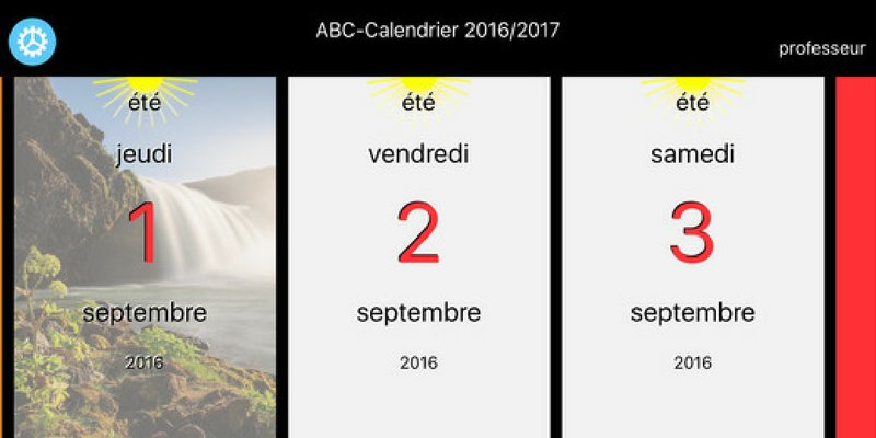 Abc Calendrier La Poutre Du Temps Montessori En Application