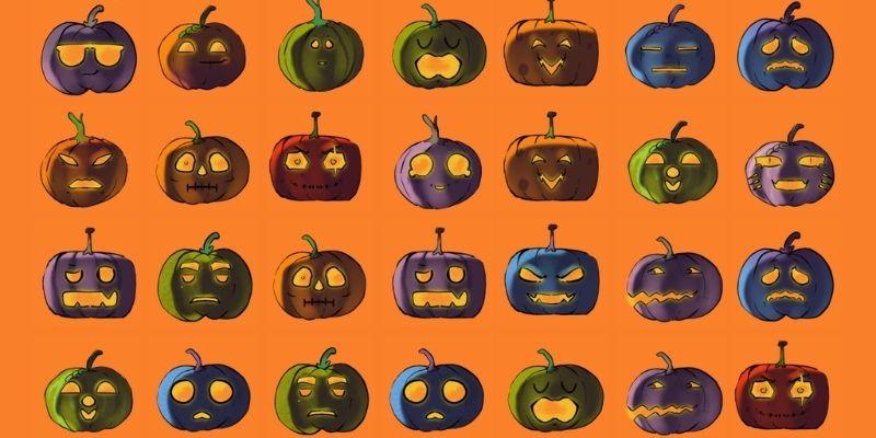 ABC Halloween memory citrouille