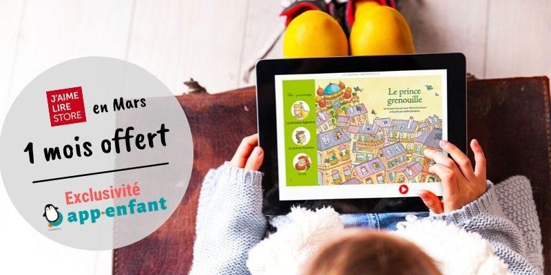 Abonnements J'aime lire store application enfant promo
