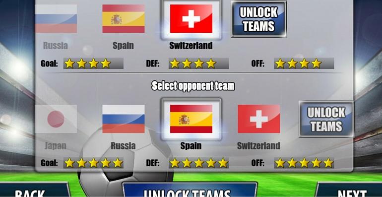 app foot équipe
