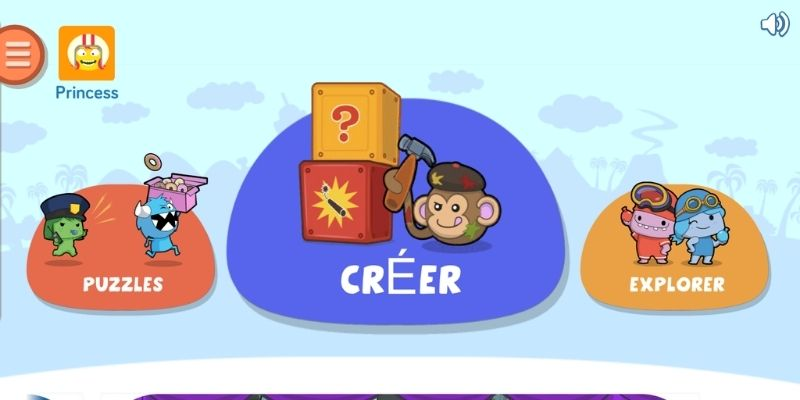 Application de code pour enfants 3 modes