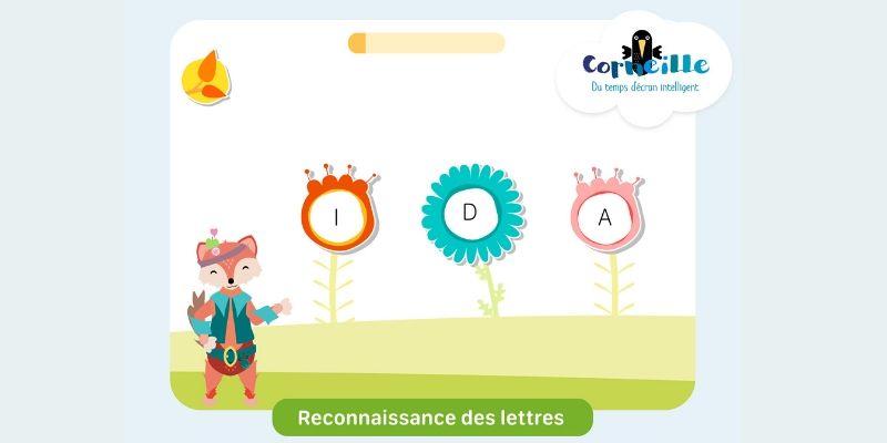 Application de lecture Corneille Reconnaissance des lettres