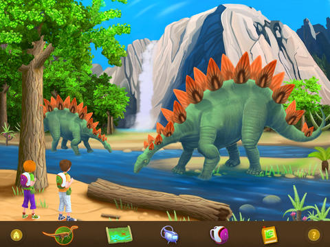 application-enfant-ipad-dinosaures-eau