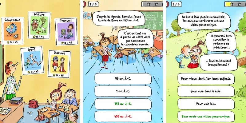 Application Max et lili quiz ecole