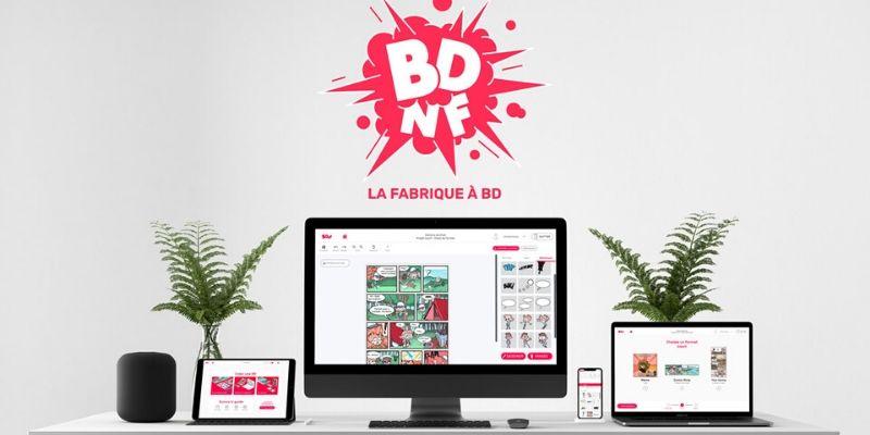 BDnF écrans app pour créer ses propres BD