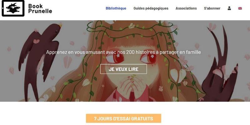Bibliothèque numérique site Book Prunelle