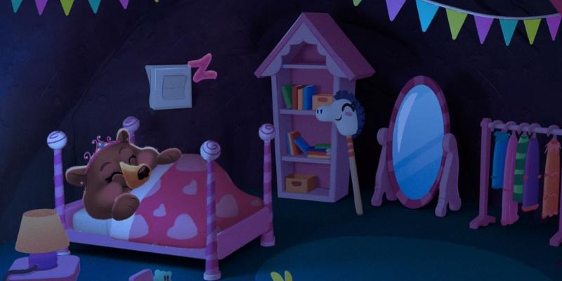 Bonne nuit foret sommeil ourse