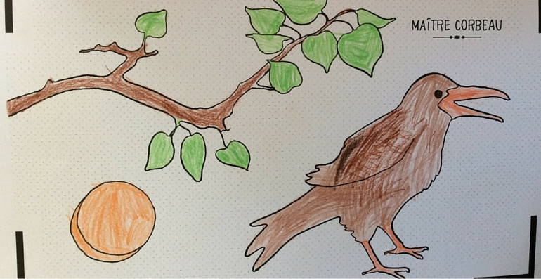 Cahier de dessin animé maitre corbeau
