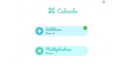 Calcache application additions et multiplications
