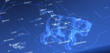 Carte du ciel astronomie enfant