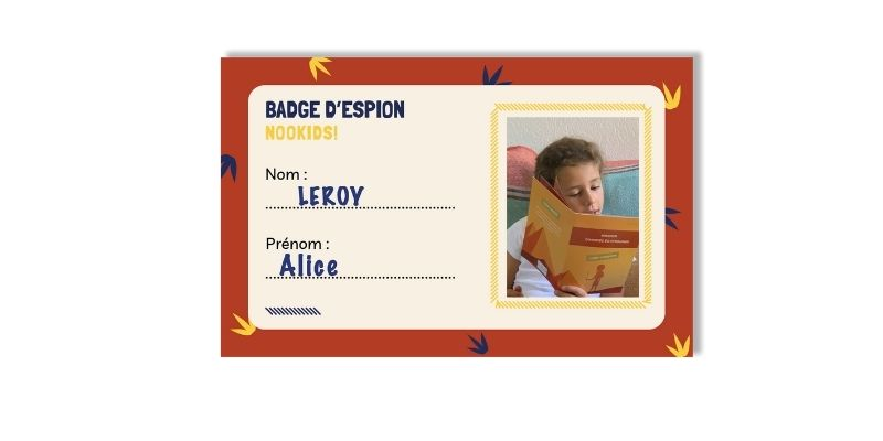 Coffret escape game nookids badge espion