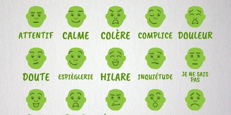Des tonnes de têtes répertoire d'émotions