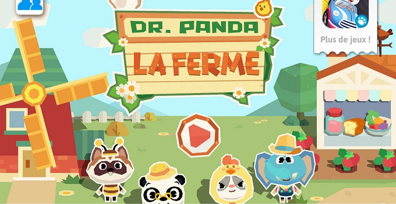 Dr Panda application la ferme