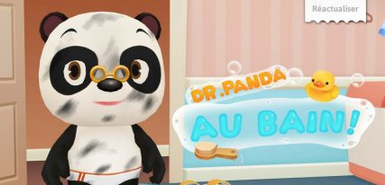 Dr Panda au bain application
