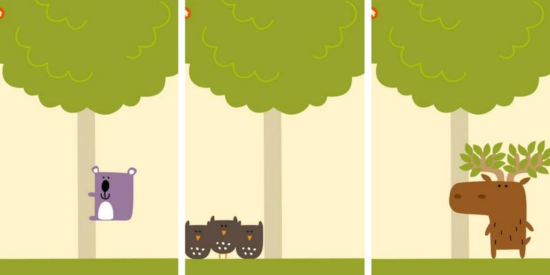 Du haut de l'arbre animaux