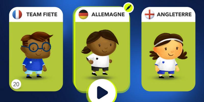 Fiete app de foot pour enfants équipe