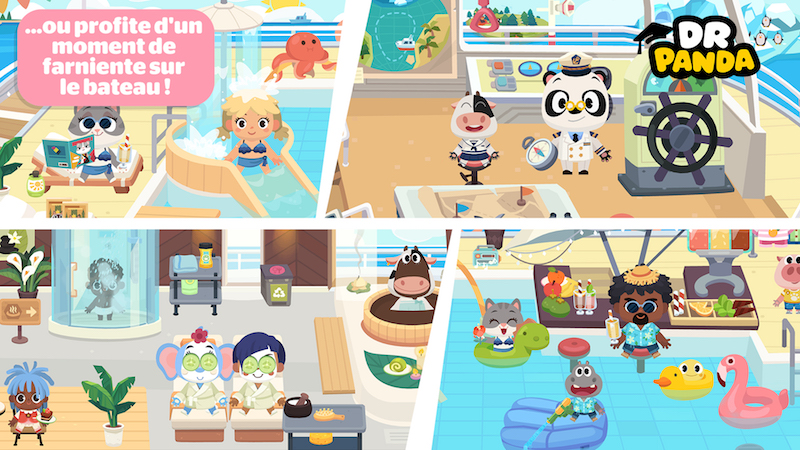 Dr Panda vacances bateau