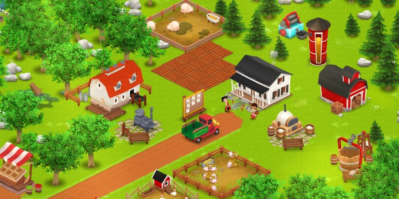 Hay Day ferme animaux cereales