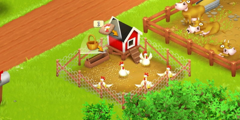 Hay Day poules oeufs