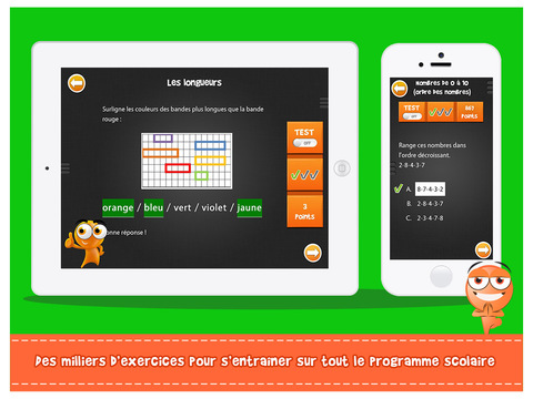 iTooch français et maths en CP longueur