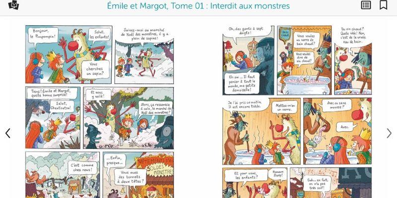 BD du J'aime lire store Emile et Margot