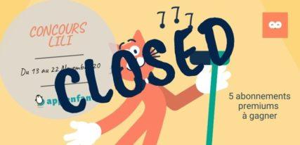 jeu concours Lili closed