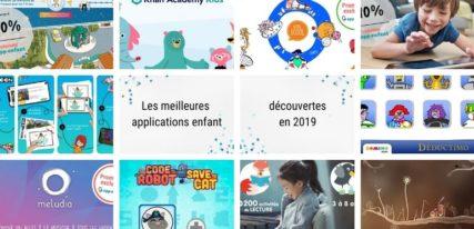 Les meilleures applications enfant découvertes en 2019