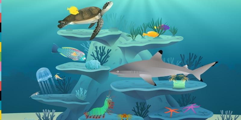 Les récifs coralliens poissons