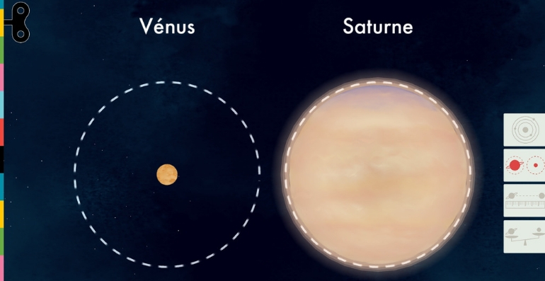 L'espace TinyBop taille planetes