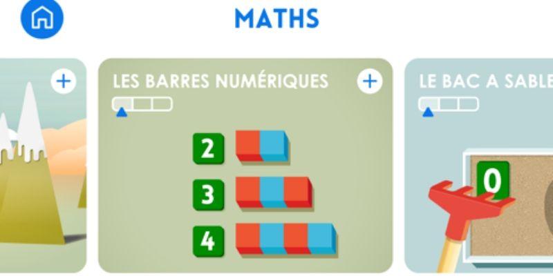 Maternelle Montessori apprendre à compter barres numériques